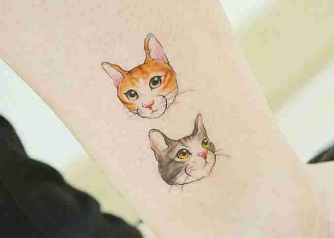 fotos de tatuagens de gatos 06