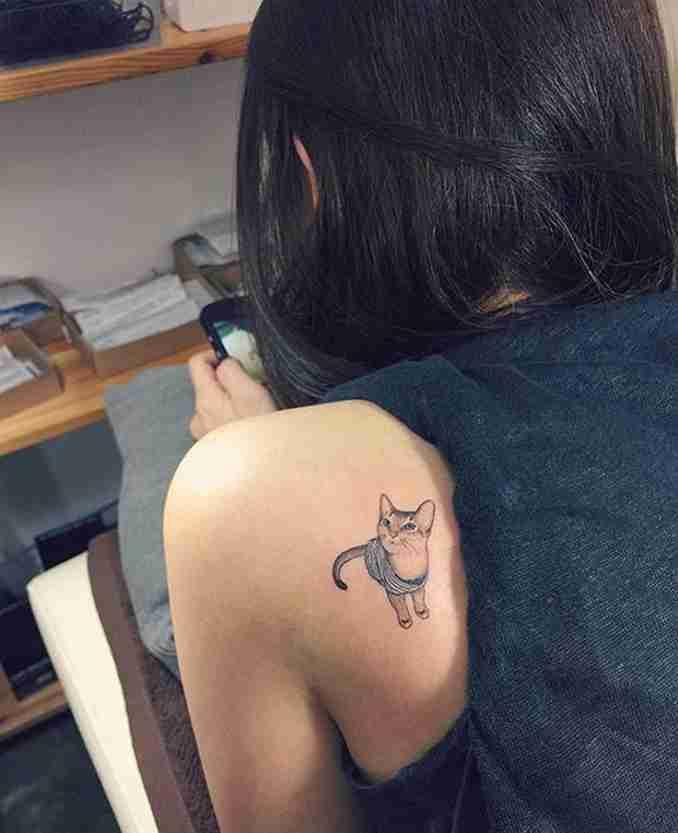 fotos de tatuagens de gatos 10