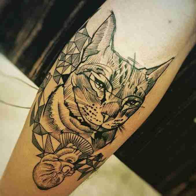 tatuagem de gatos 20