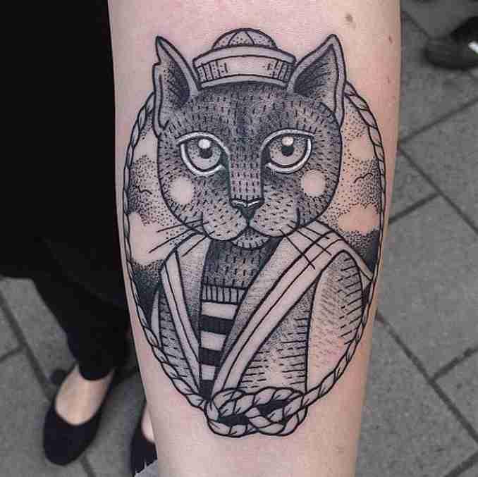 tatuagem de gatos 22
