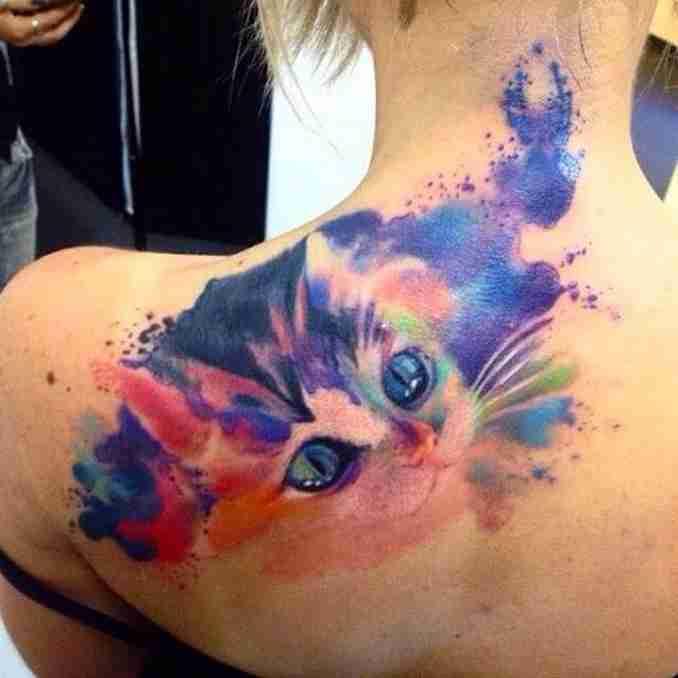 tatuagem de gatos 30