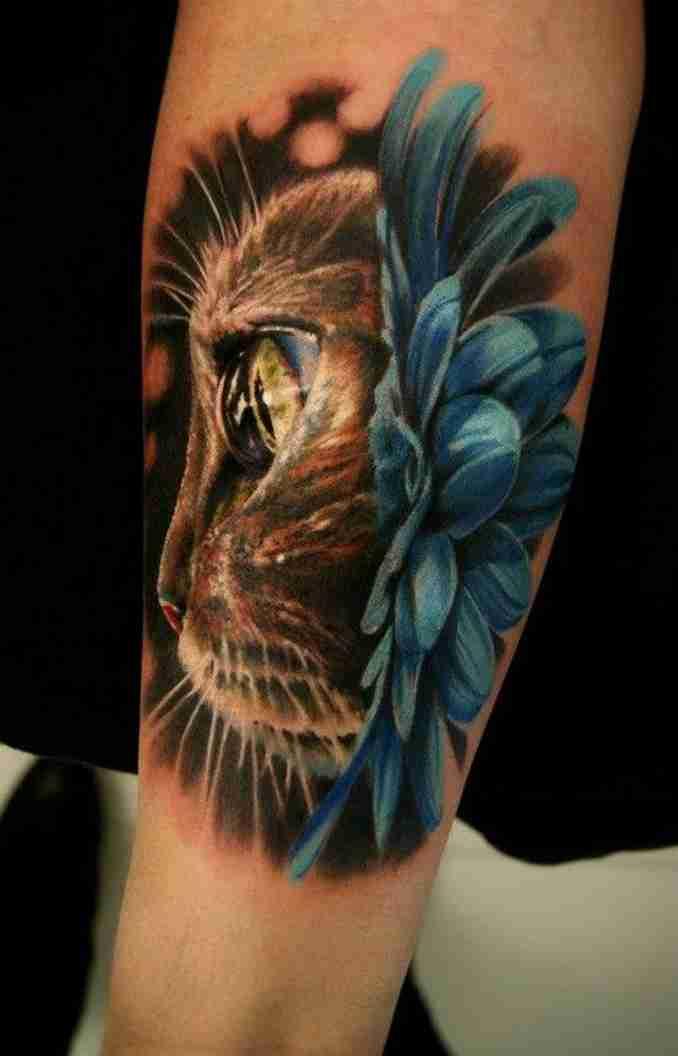 tatuagem de gatos 37