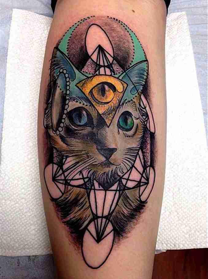 tatuagem de gatos 39