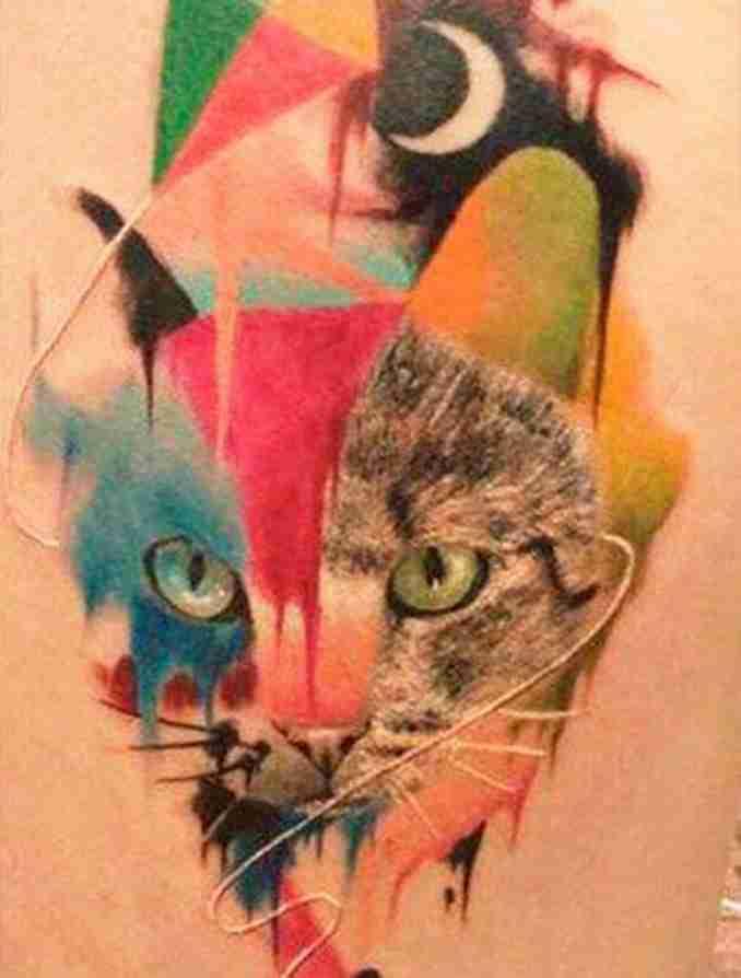 tatuagem de gatos 41