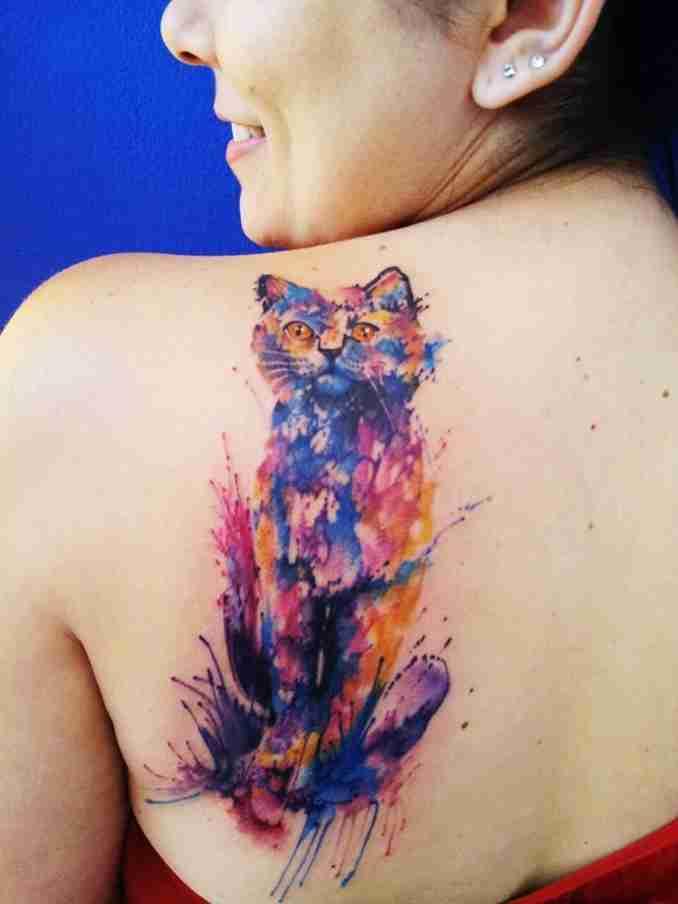 tatuagem de gatos 47