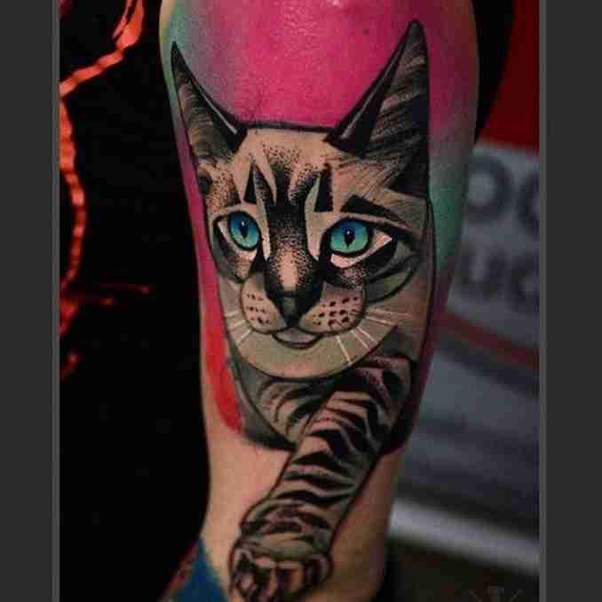 tatuagem de gatos 48