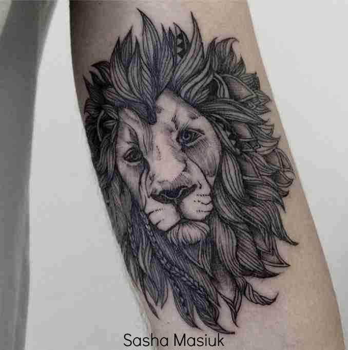 fotos de tatuagens leão -