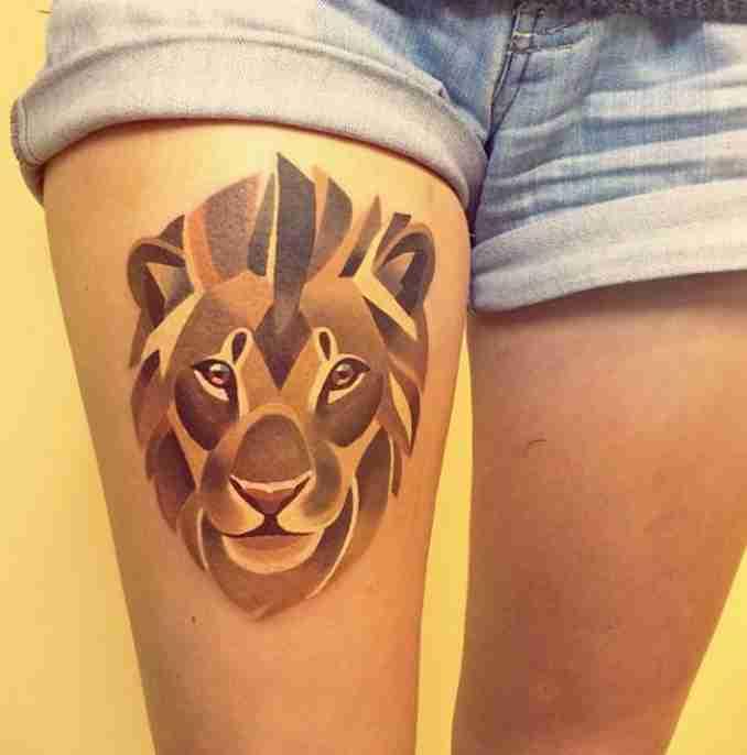 tatuagens de leão - 22