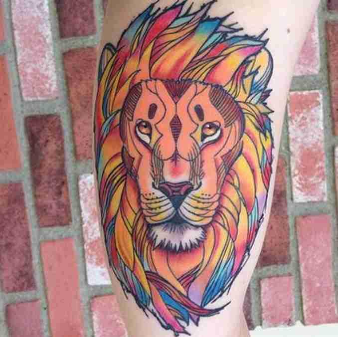 fotos de tatuagens leão - 29