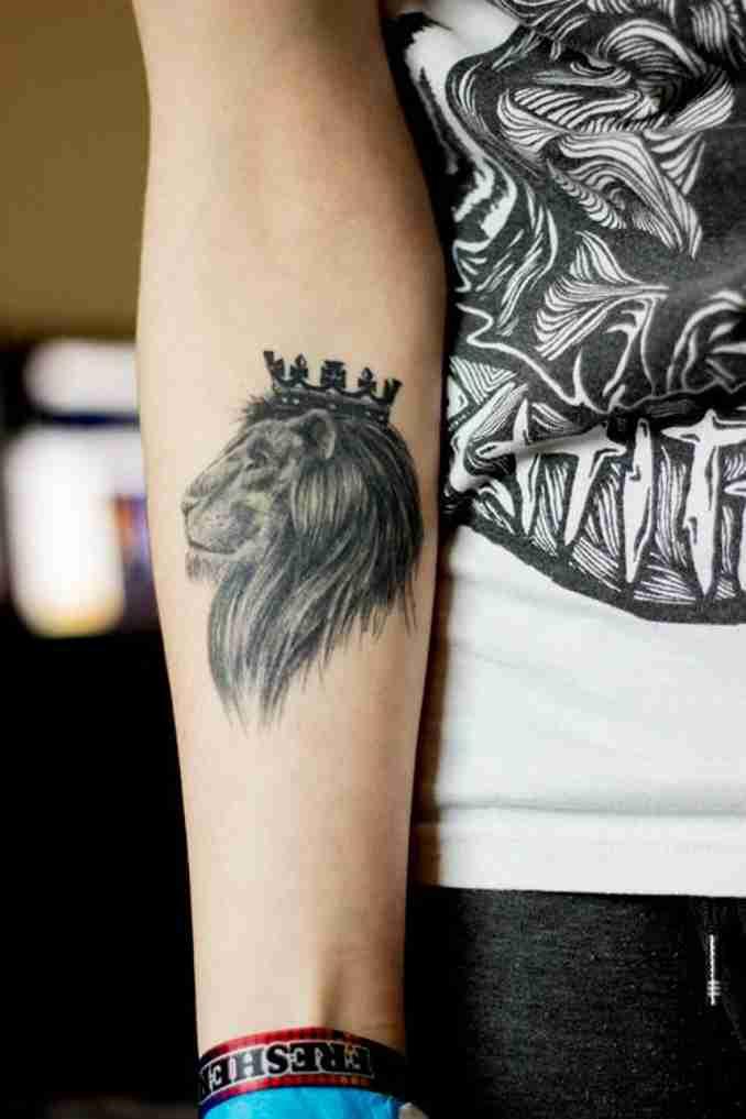 fotos de tatuagens leão - 32