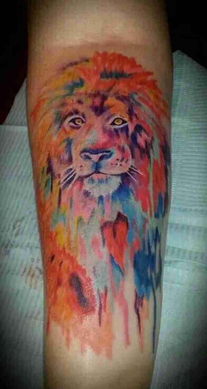 fotos de tatuagens leão - 35