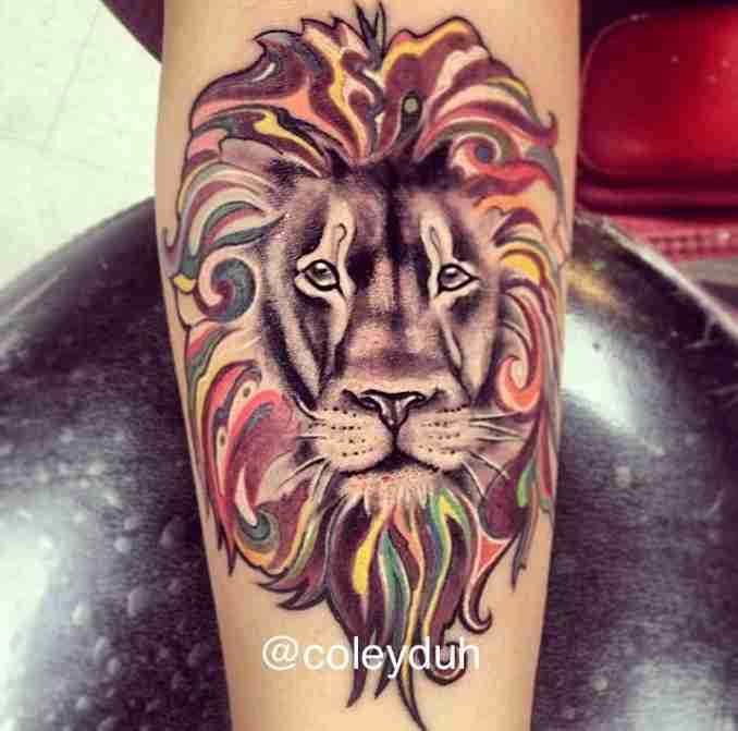 fotos de tatuagens leão - 37