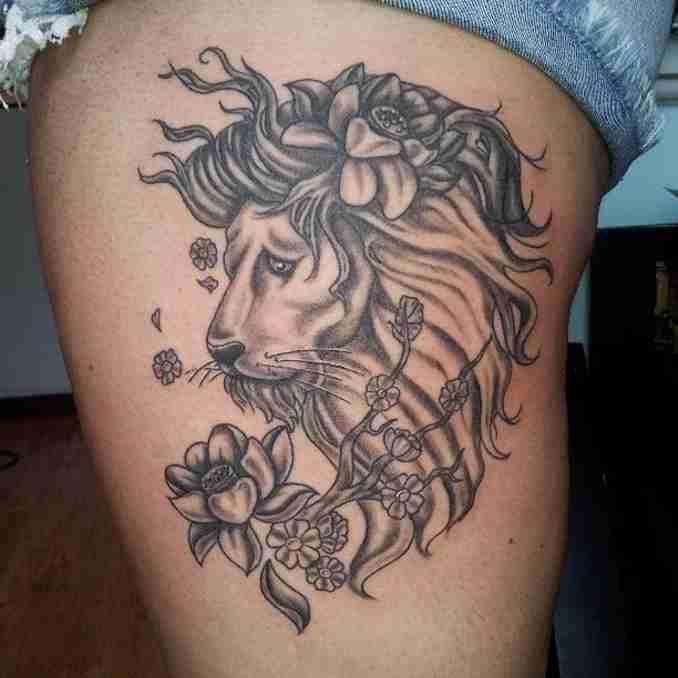 fotos de tatuagens leão - 38
