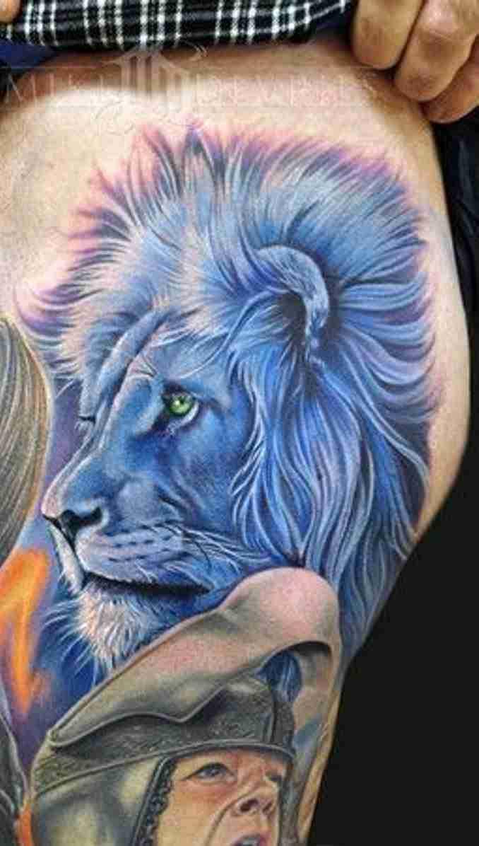 fotos de tatuagens leão - 39