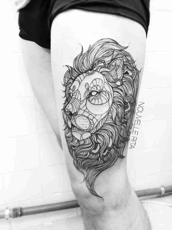 fotos de tatuagens leão - 42