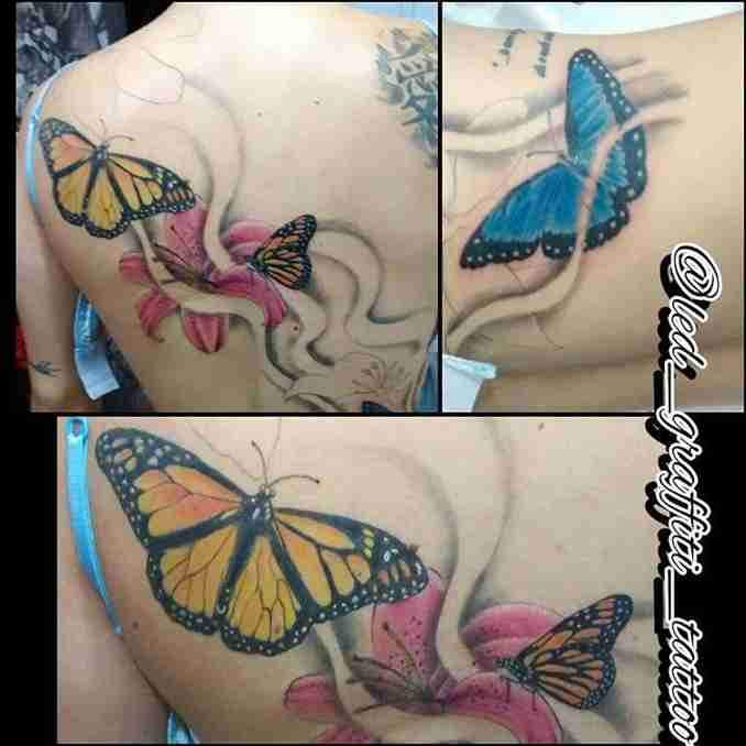 tatuagem com borboleta 43