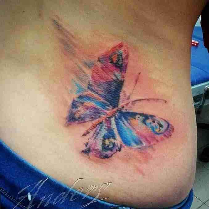 tatuagem com borboleta 46