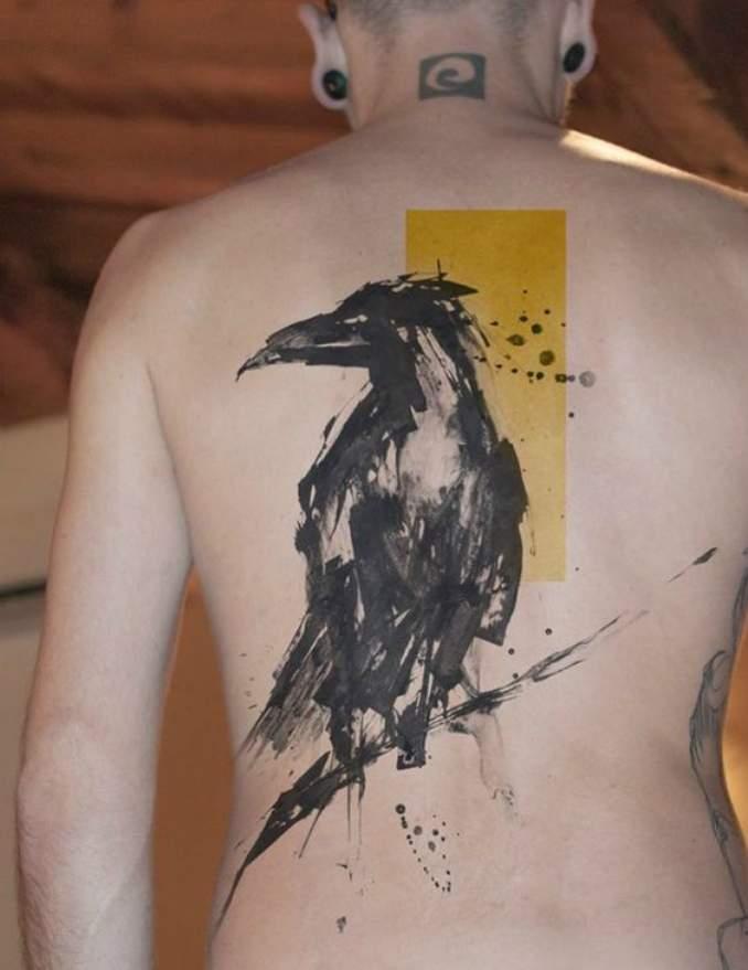 tatuagens de corvo 15