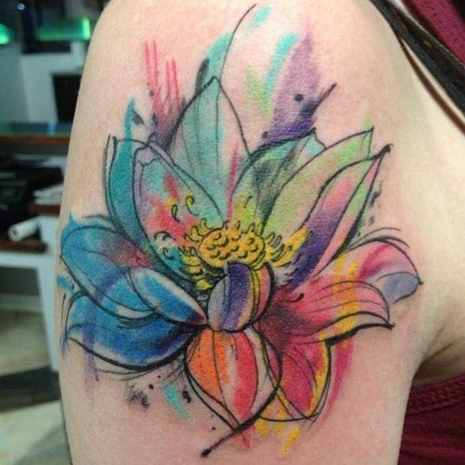 Tatuagem flor de lótus 19