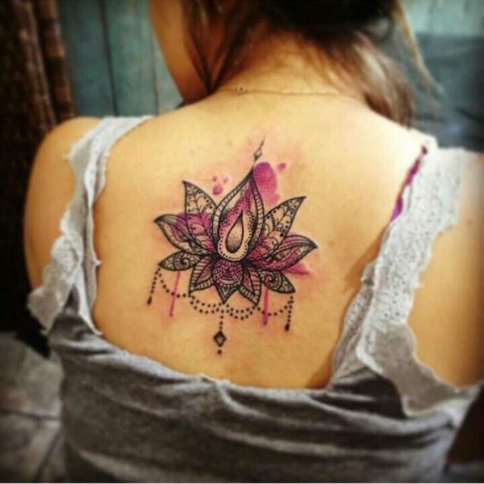 Tatuagem flor de lótus 20