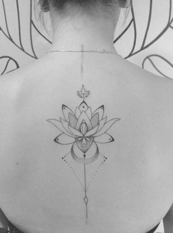 Tatuagem flor de lótus 22
