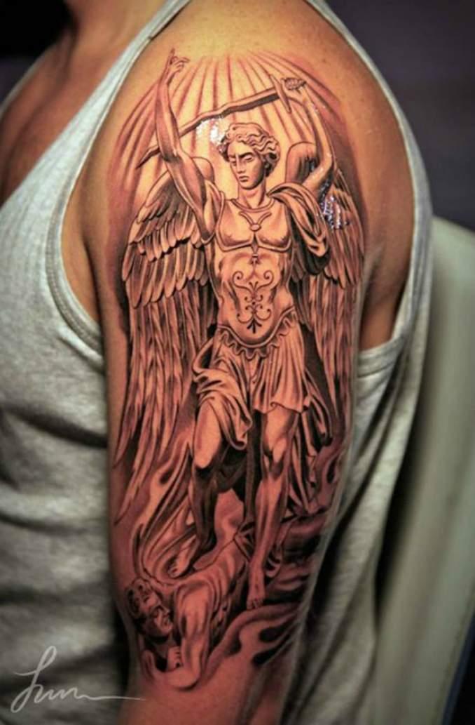 Tatuagens com anjos fotos e significados dicas de for Fraternity tattoo ideas
