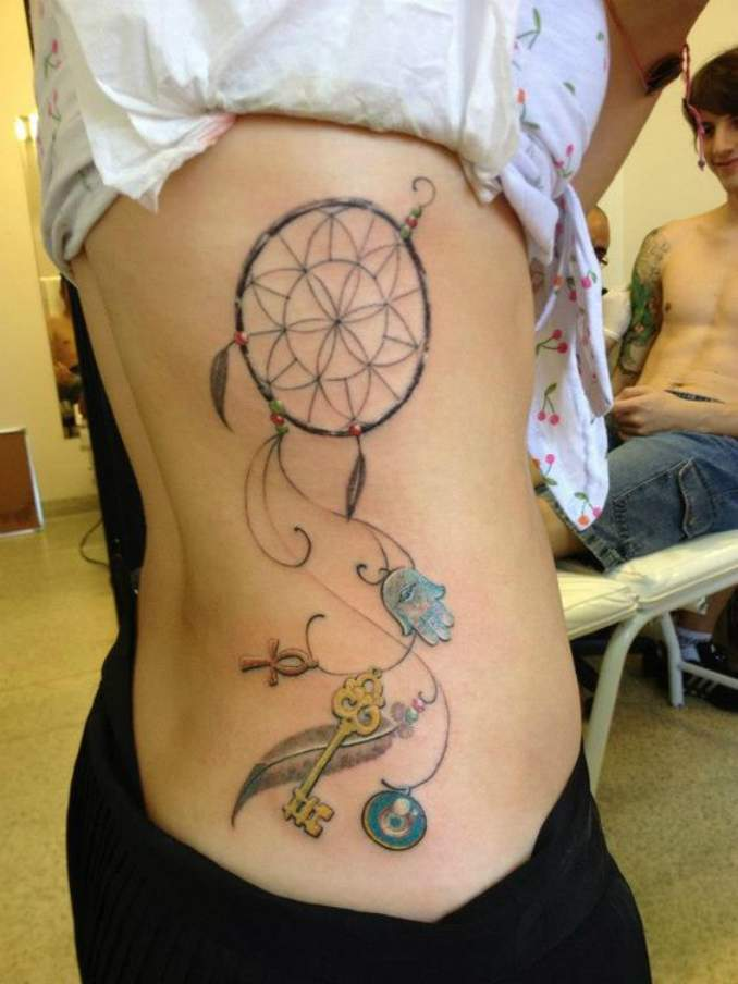 Tatuagem de filtro dos sonhos 16