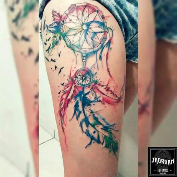 Tatuagem de filtro dos sonhos 19