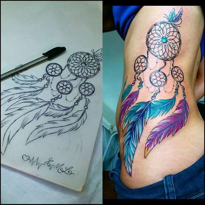 Tatuagem de filtro dos sonhos 21