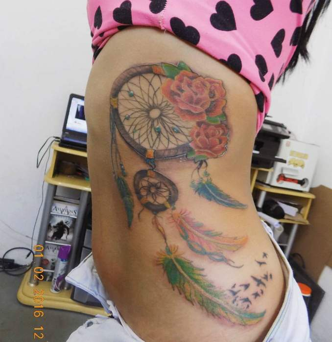 Tatuagem de filtro dos sonhos 27
