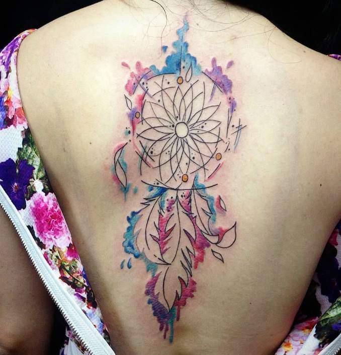 Tatuagem de filtro dos sonhos 28