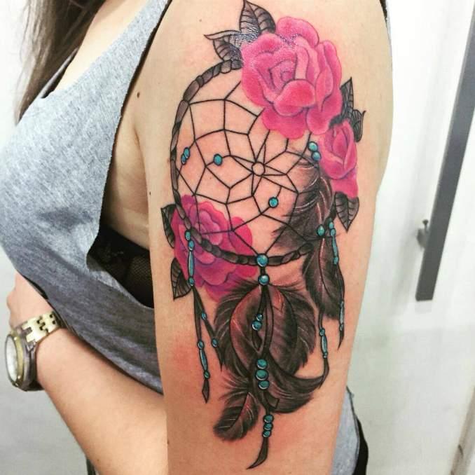 Tatuagem de filtro dos sonhos 37