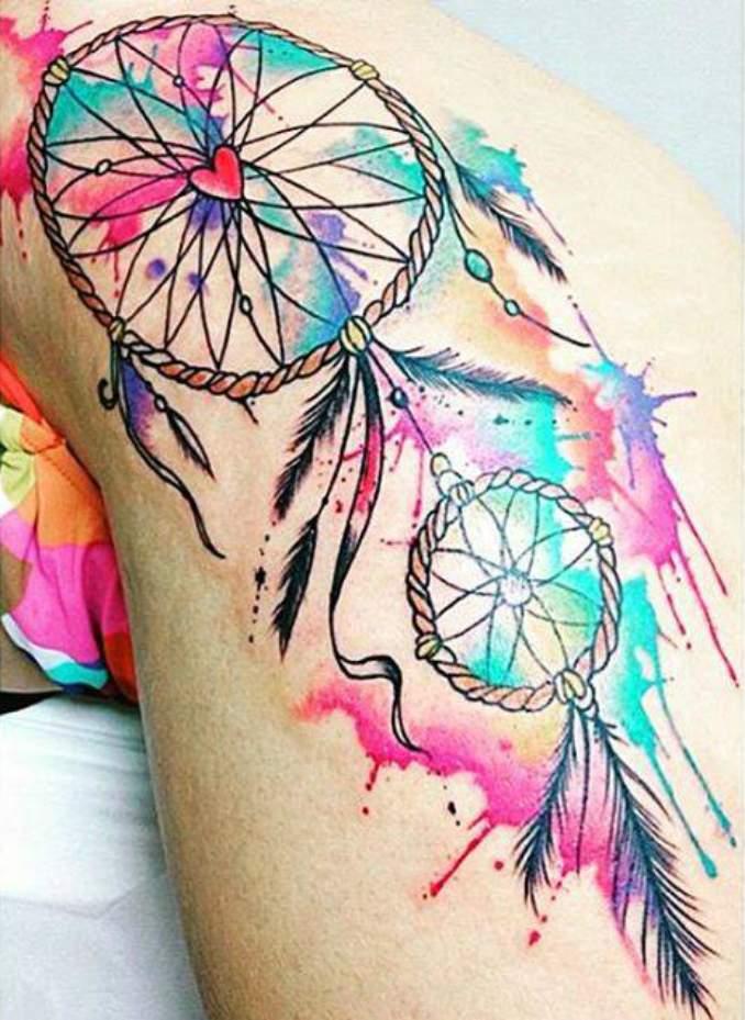 Tatuagem de filtro dos sonhos 44