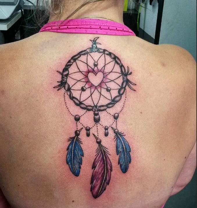Tatuagem de filtro dos sonhos 45