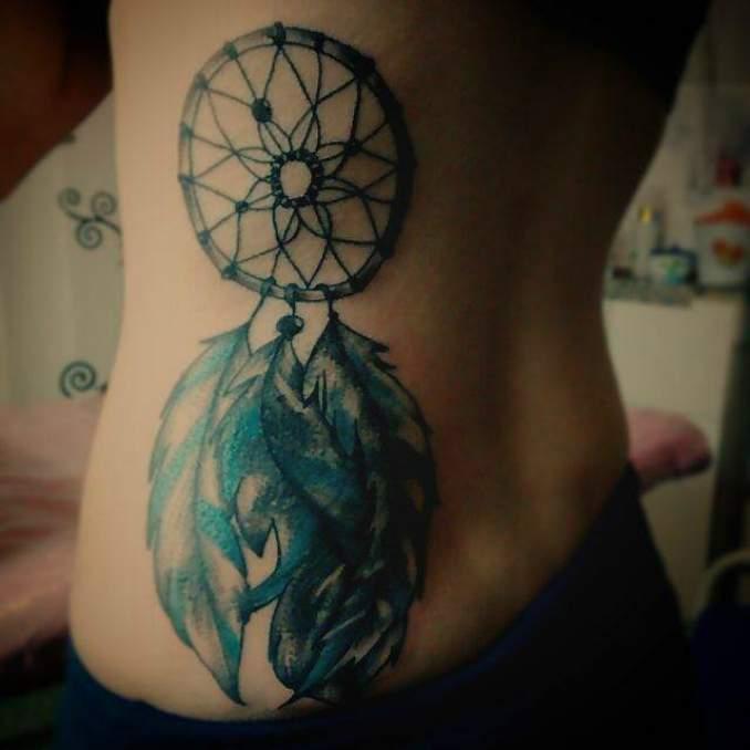 Tatuagem de filtro dos sonhos 46