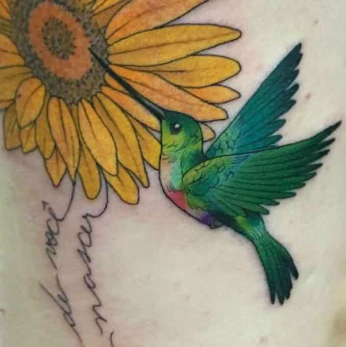 Tatuagem Beija Flores